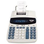 1220-4 Two-Color Tax Key Printing Calculator 12-Digit Fluorescent BlackRed (VCT12204)