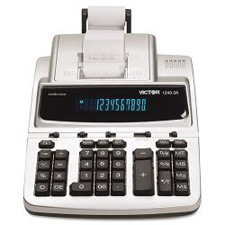 1240-3A AntiMicrobial Two-Color Printing Calculator 12-Digit Fluorescent (VCT12403A)