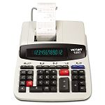 1297 Two-Color Commercial Printing Calculator 12-Digit LCD BlackRed (VCT1297)