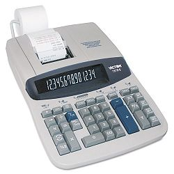 1570-6 Two-Color Ribbon Printing Calculator 14-Digit Fluorescent BlackRed (VCT15706)