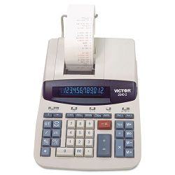 2640-2 Two-Color Printing Calculator 12-Digit Fluorescent BlackRed (VCT26402)