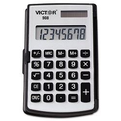 908 Portable PocketHandheld Calculator 8-Digit LCD (VCT908)