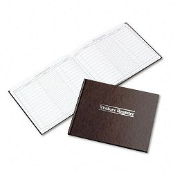 "Visitor Register Book Red Hardcover 112 Pages 8 12"" x 11 12"" (WLJS490)"