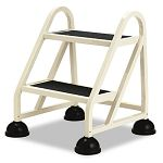 "Stop-Step Two-Step Aluminum Ladder 21-14""w x 20-14""d x 22-78""h Beige (CRA102019)"