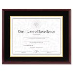 "Hardwood DocumentCertificate Frame with Mat 11"" x 14"" Mahogany (DAX1511TM)"