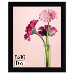 "Solid Wood PhotoPicture Frame Easel Back 8"" x 10"" Black (DAX1826L3T)"
