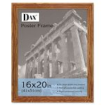 "Solid Wood Poster Frame Traditional with Plexiglas Window 16"" x 20"" Med Oak (DAX2856V1X)"