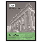 "Flat Face Wood Poster Frame with Plexiglas Window 18"" x 24"" Black (DAX2860W2X)"