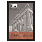 "Black Wood Poster Frame with Plastic Window Wide Profile 24 ""x 36"" (DAX2863U2X)"