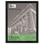 "Black Wood Poster Frame with Plastic Window Wide Profile 18"" x 24"" (DAX2863W2X)"