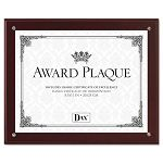 "Plaque-In-An-Instant Kit with CertificatesMats WoodAcrylic 10-12"" x 13"" Mahogany (DAXN100MT)"