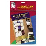 "Velcro Magnetic Cubicle Photo Document Frame Acrylic 8-12"" x 11"" Clear (DAXN140285M)"