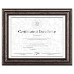 "Document Frame DeskWall Wood 8-12"" x 11"" Antique Charcoal Brushed Finish (DAXN15790NT)"