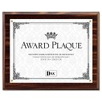 "Award Plaque WoodAcrylic Frame fits up to 8-12"" x 11"" Walnut (DAXN15818T)"