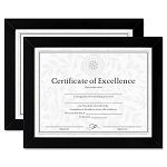 "DocumentCertificate Frames Wood 8-12"" x 11"" Black Set of Two (DAXN15832)"