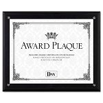 "Award Plaque WoodAcrylic Frame fits up to 8-12"" x 11"" Black (DAXN15908NT)"