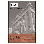 "Coloredge Poster Frame with Plexiglas Window 24"" x 36"" Clear FaceBlack Border (DAXN16024BT)"