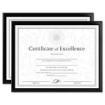 "Value U-Channel Document Frames with Certificates Set of 2 8-12"" x 11"" Black (DAXN17000NTP)"