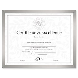 "Value U-Channel Document Frame with Certificates 8-12"" x 11"" Silver (DAXN17002N)"