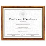 "Two-Tone DocumentDiploma Frame Wood 8-12"" x 11"" Maple with Gold Leaf Trim (DAXN17981MT)"