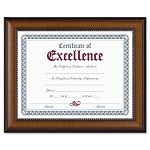 "Prestige Document Frame WalnutBlack Gold Accents Certificate 8 12"" x 11"" (DAXN3028N1T)"