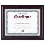 "Prestige Document Frame RosewoodBlack Gold Accents Certificate 8 12"" x 11"" (DAXN3028N2T)"