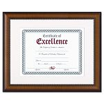 "Prestige Document Frame Matted with Certificate WalnutBlack 11 x 14"" (DAXN3028S1T)"
