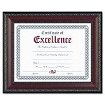"World Class Document Frame with Certificate Walnut 8 12"" x 11"" (DAXN3245N2T)"