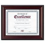 "Rosewood Document Frame Wall-Mount Wood 8 12"" x 11"" (DAXN3246N1T)"