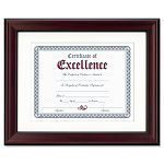 "Rosewood Document Frame Wall-Mount Wood 11"" x 14"" (DAXN3246S1T)"