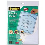 "Display Pocket Removable Interlocking Fasteners Plastic 8-12"" x 11"" Clear (MMMWL854C)"