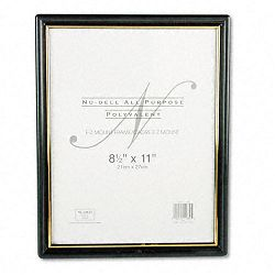 "EZ Mount Document Frame Plastic 8-12"" x 11"" Black (NUD11880)"