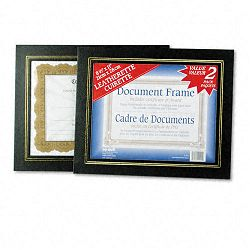 "Leatherette Document Frame 8-12"" x 11"" Black Pack of Two (NUD21202)"