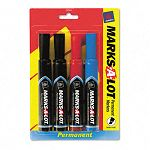 Permanent Markers Chisel Tip Assorted Set of 4 (AVE07905)