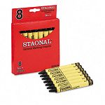 Staonal Marking Crayons Black Box of 8 (CYO5200023051)