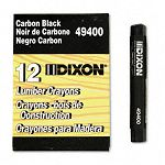 Lumber Crayon Permanent Carbon Black Pack of 12 (DIX49400)