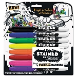 Stained Permanent Fabric Marker Assorted Set of 8 (SAN1779005)