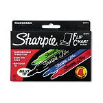 Flip Chart Markers Bullet Tip Four Colors Set of 4 (SAN22474)