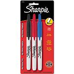 Retractable Permanent Markers Fine Point Assorted Set of 3 (SAN32726PP)