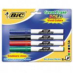 Great Erase Bold Pocket Style Dry Erase Markers Fine Assorted Pack of 4 (BICDECFP41ASST)
