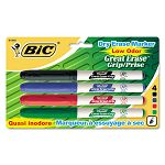 Great Erase Grip Dry Erase Markers Fine Point Assorted Set of 4 (BICGDEP41ASST)