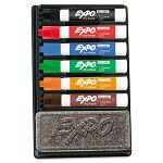 Dry Erase Marker & Organizer Kit Chisel Tip Assorted Set of 6 (SAN80556)