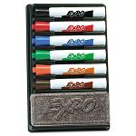Dry Erase Marker Organizer Chisel Tip Assorted Set of 6 (SAN83056)