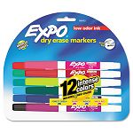 Low Odor Dry Erase Markers Fine Point Assorted Set of 12 (SAN86603)