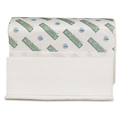 "Green Plus Folded Towels Multi-Fold White 9-18"" x 9-12"" 250Pack Carton of 16 (BWK38GREEN)"