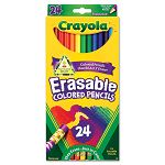 Erasable Colored Woodcase Pencils 3.3 mm 24 Assorted ColorsSet (CYO682424)