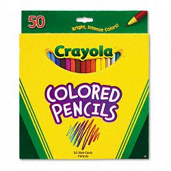 Long Barrel Colored Woodcase Pencils 3.3 mm 50 Assorted ColorsSet (CYO684050)