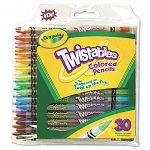 Twistables Colored Pencils Nontoxic 30 Assorted ColorsPack (CYO687409)