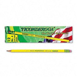 Woodcase Pencil 2H #4 Yellow Barrel Pack of 12 (DIX13884)
