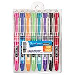 Liquid Flair Porous Point Stick Pen Assorted Ink Medium Pack of 8 (PAP28503)